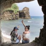 【御宿町観光】素掘りのトンネルを抜けて秘境ビーチへ!「小浦海岸」